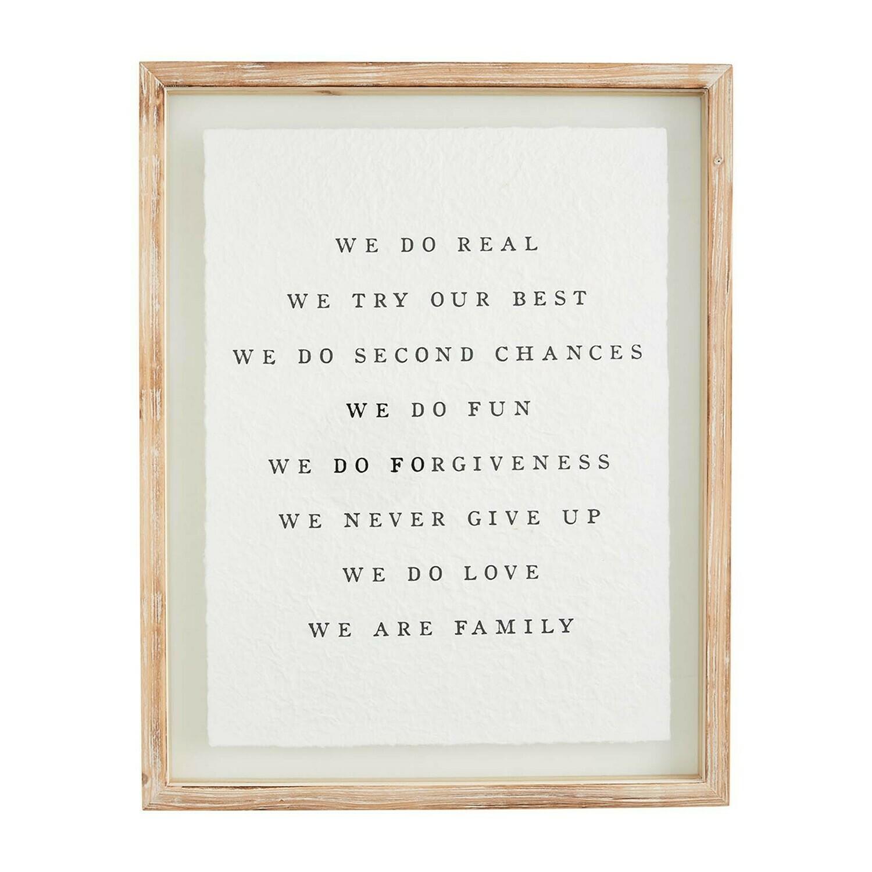 Mudpie Family Glass Plaque