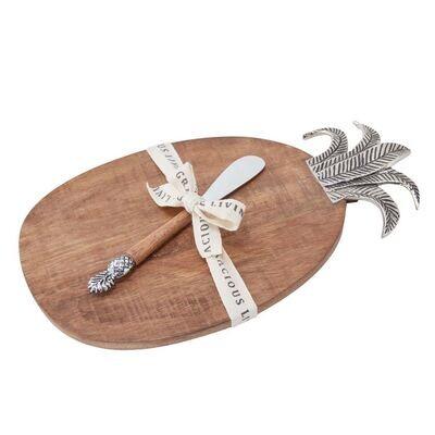 Mudpie Pineapple Wood Board Set