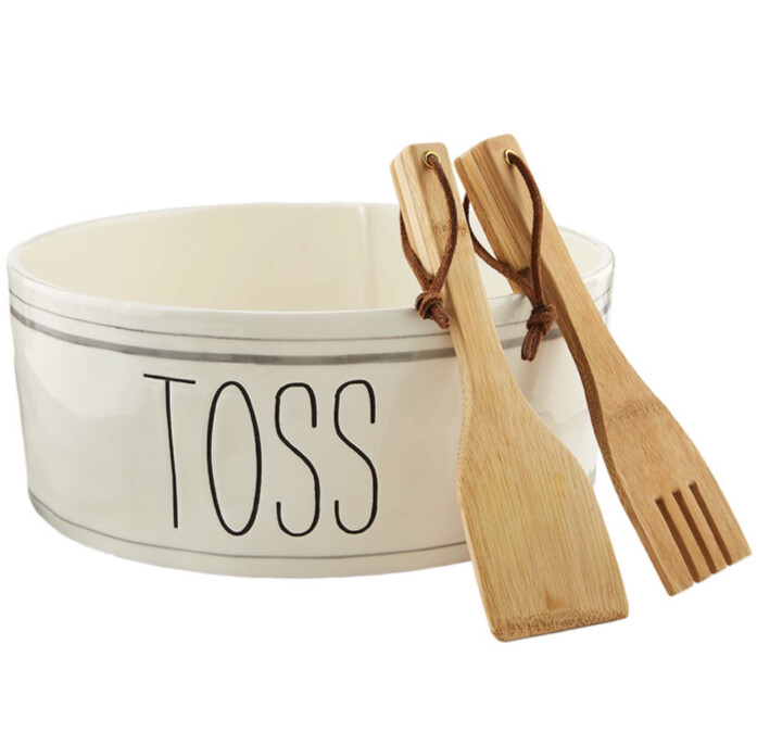 Mudpie Bistro Salad Bowl Set