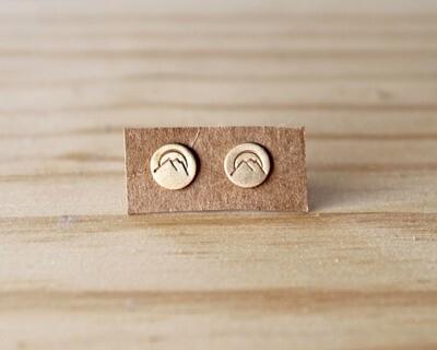 Mountain Post Earrings