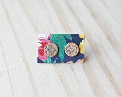 Honeycomb Post Earrings