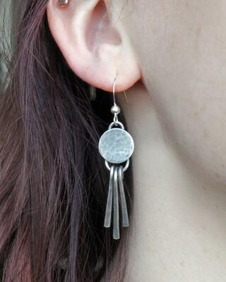Full Moon Dangle Earrings