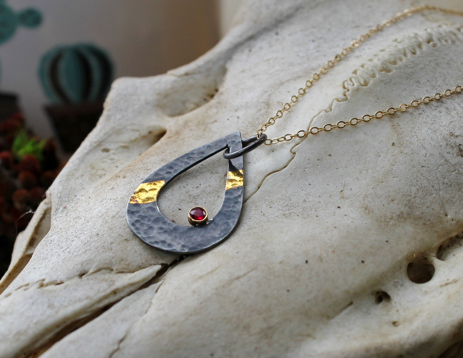 Ruby Teardrop Necklace (GEO Collection)