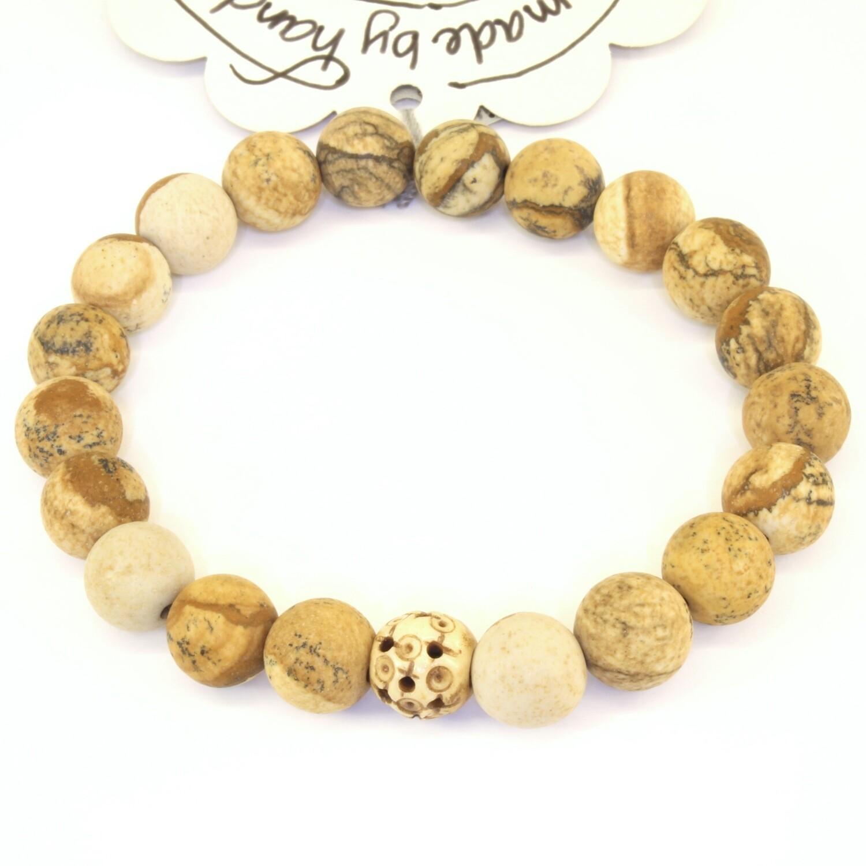 Power Bead Bracelet - Picture Jasper #PBPIC