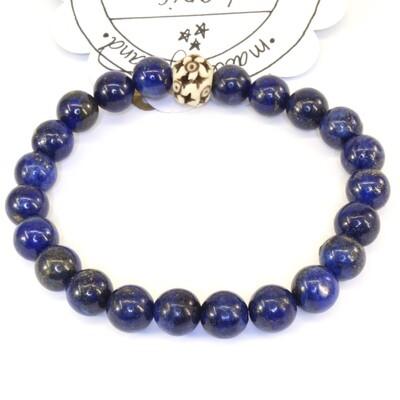 Power Bead Bracelet - Lapis #PBLAP
