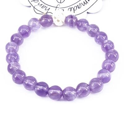 Power Bead Bracelet - Amethyst #PBAMY