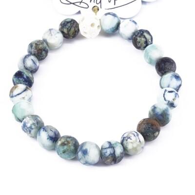 Power Bead Bracelet - Azurite Chrysocolla #PBAZC