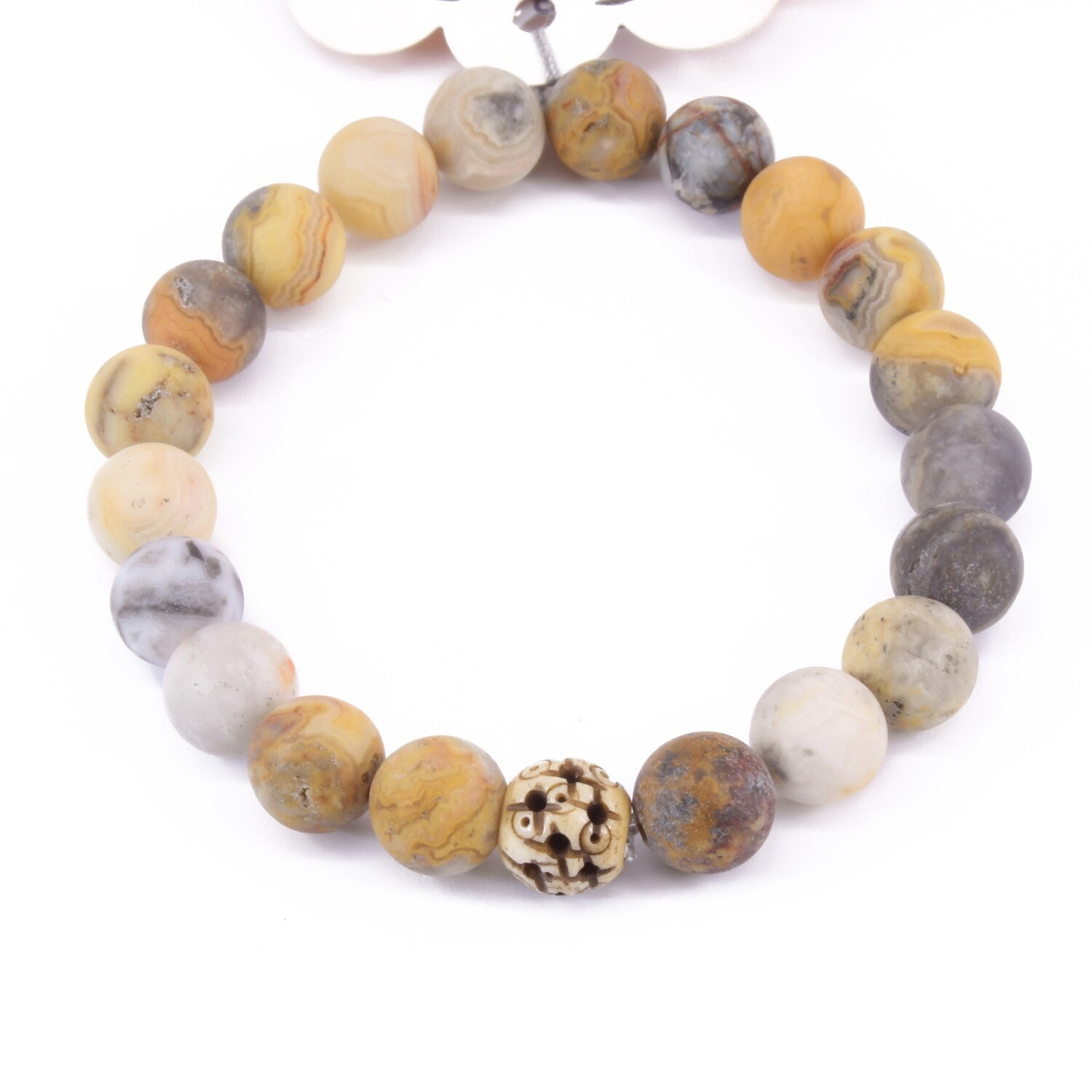 Power Bead Bracelet - Crazy Lace Agate #PBCLA