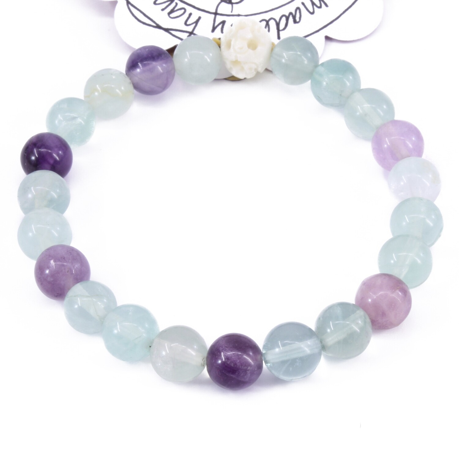 Power Bead Bracelet - Fluorite #PBFL