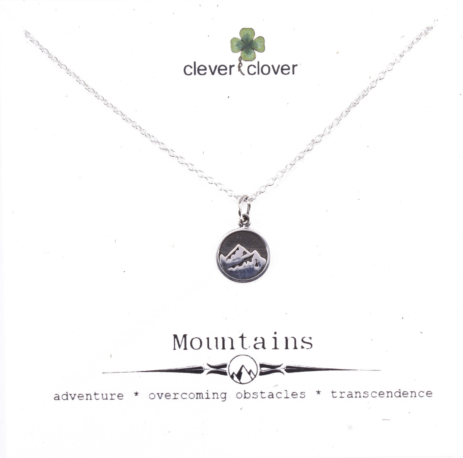 SSN1707 Sterling Silver Mountain / Earth Element Necklace