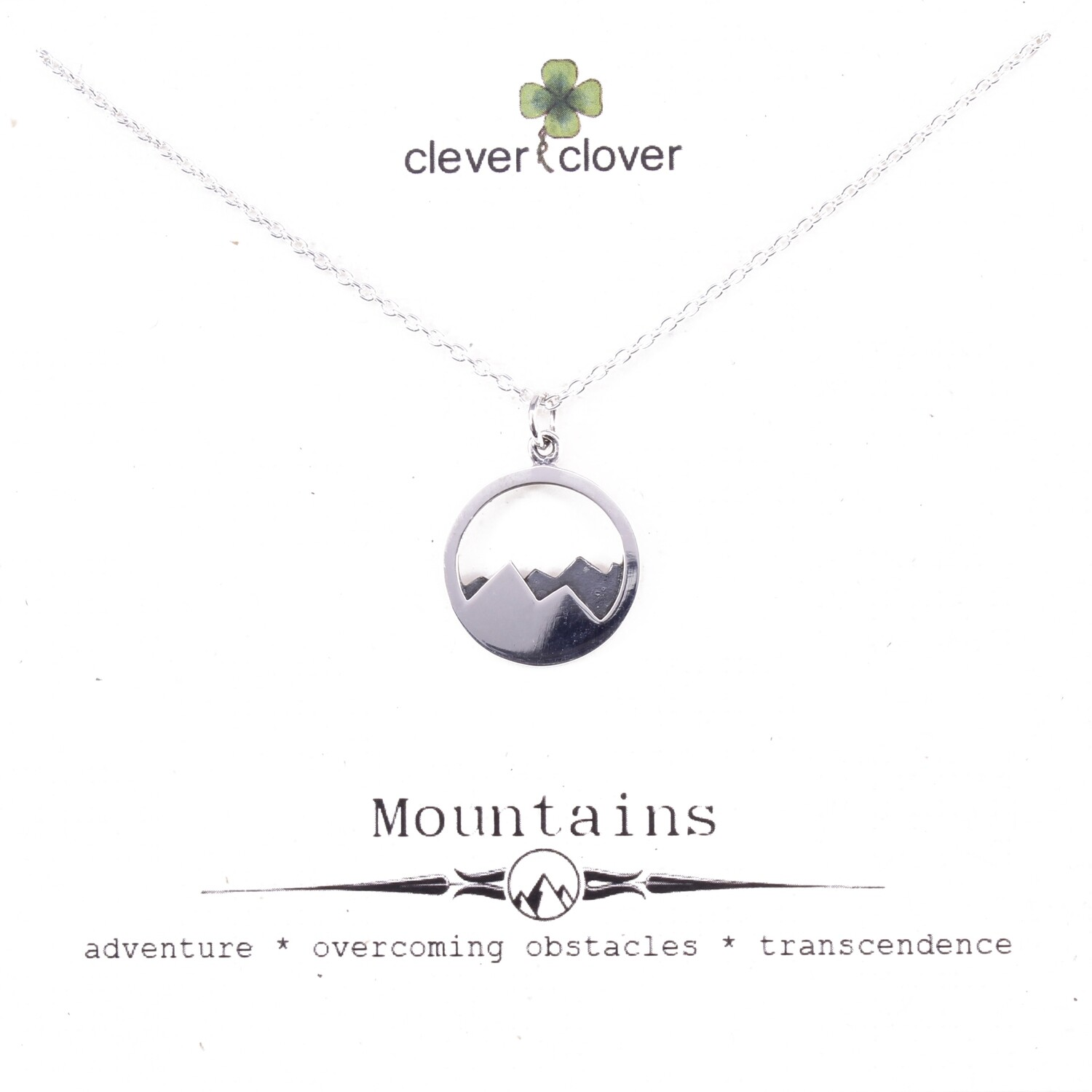 SSN1532 Sterling Silver 2 Toned Mountain Necklace