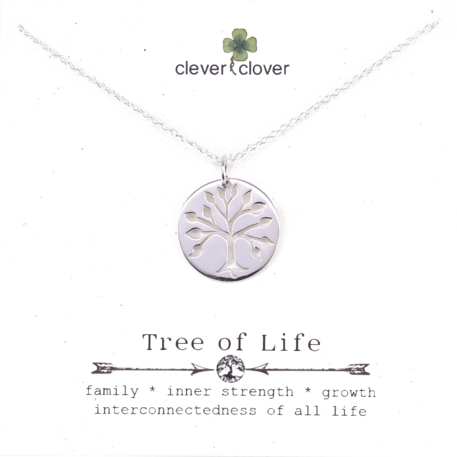 SSN1047  Sterling Silver Large Cutout Tree of Life Necklace