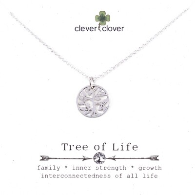 SSN972 Sterling Silver Small Open Tree of Life Necklace