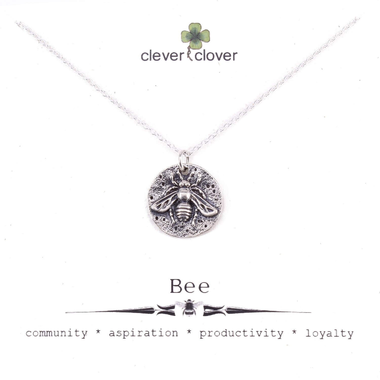 SSN1291 Sterling Silver Ancient Coin Bee Necklace