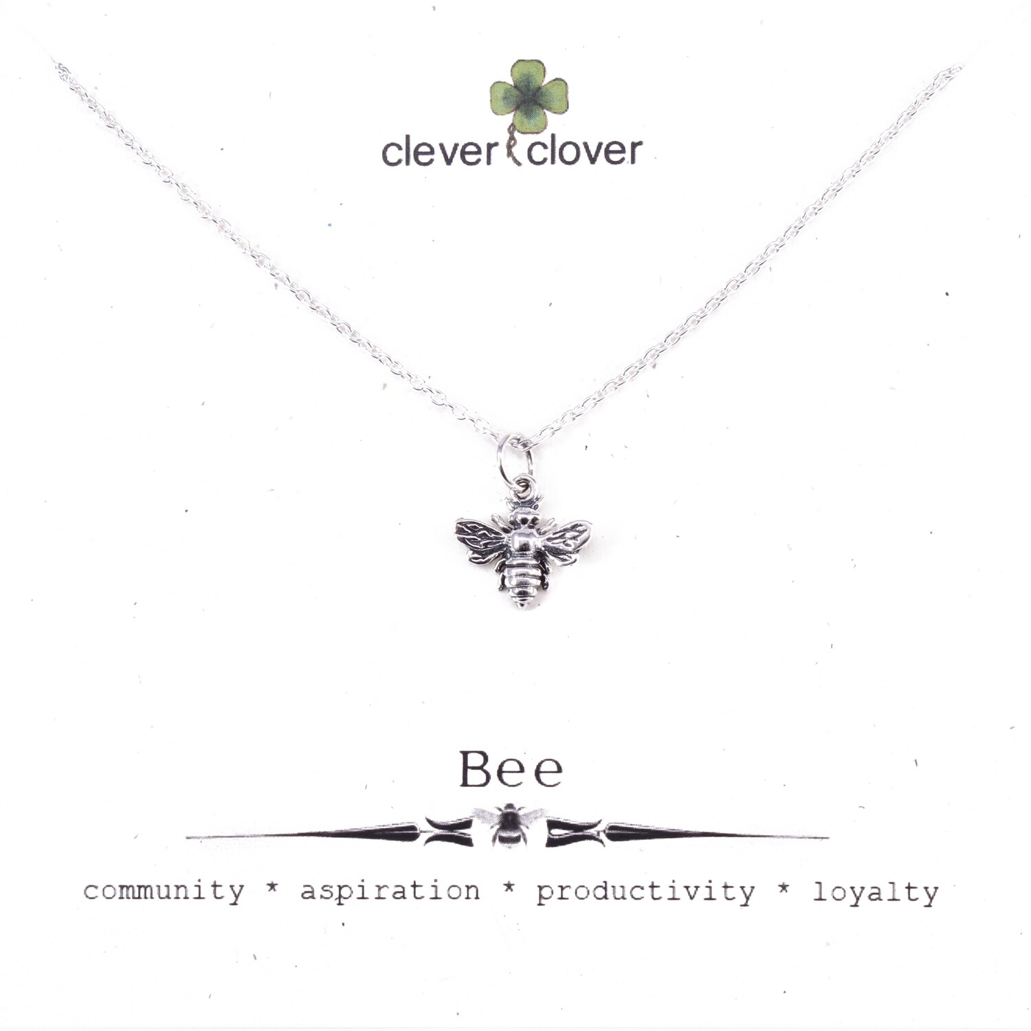 SSN699 Sterling Silver Small Honey Bee Necklace