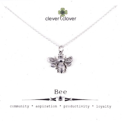 SSN1162 Sterling Silver Large Honey Bee Necklace