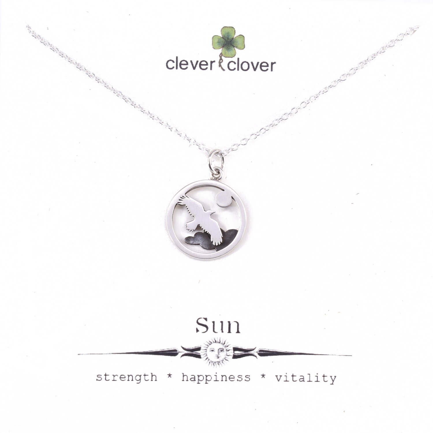 SSN1810 Sterling Silver Flying Bird Necklace