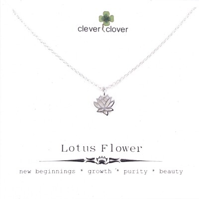 SSN868 Sterling Silver Tiny Open Lotus Necklace
