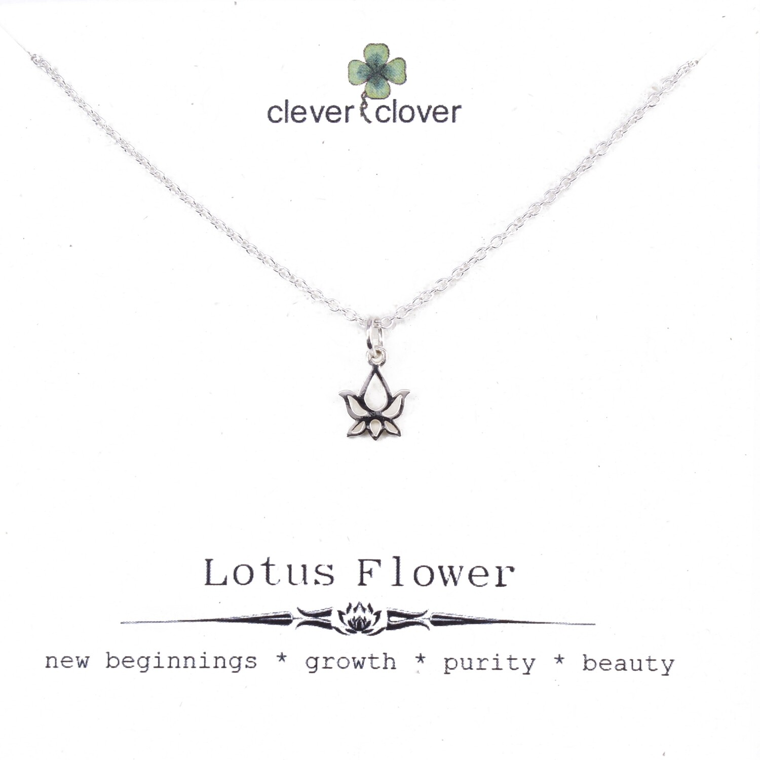 SSN877 Sterling Silver Tiny Lotus Bud Necklace