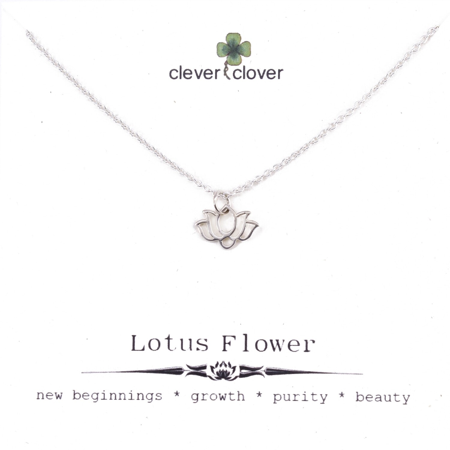 SSN1338 Sterling Silver Wide Lotus Necklace