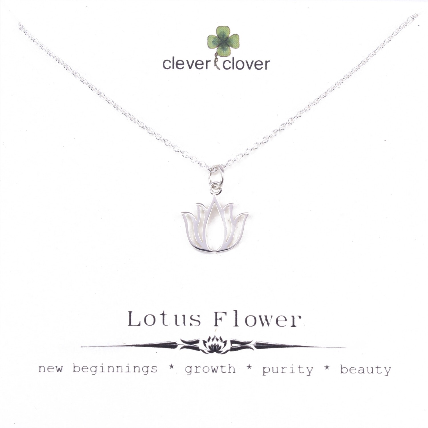 SSN6033 Sterling Silver Open Blooming Lotus Necklace