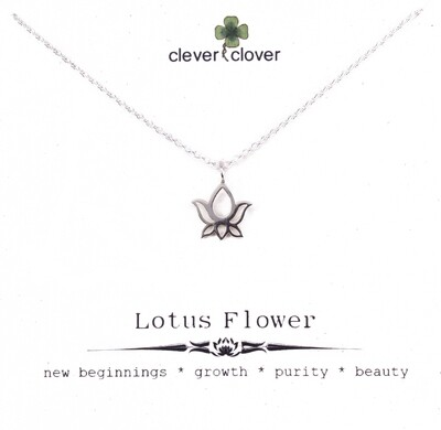 SSN616 Sterling Silver Lotus Blossom Necklace