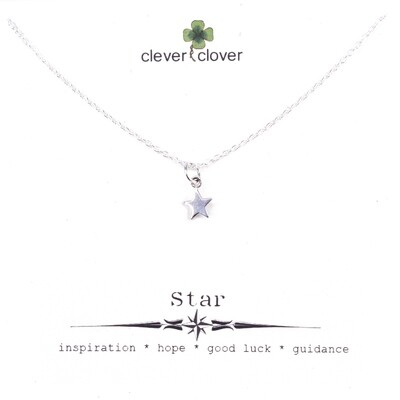 SSN862 Sterling Silver Tiny Star Necklace