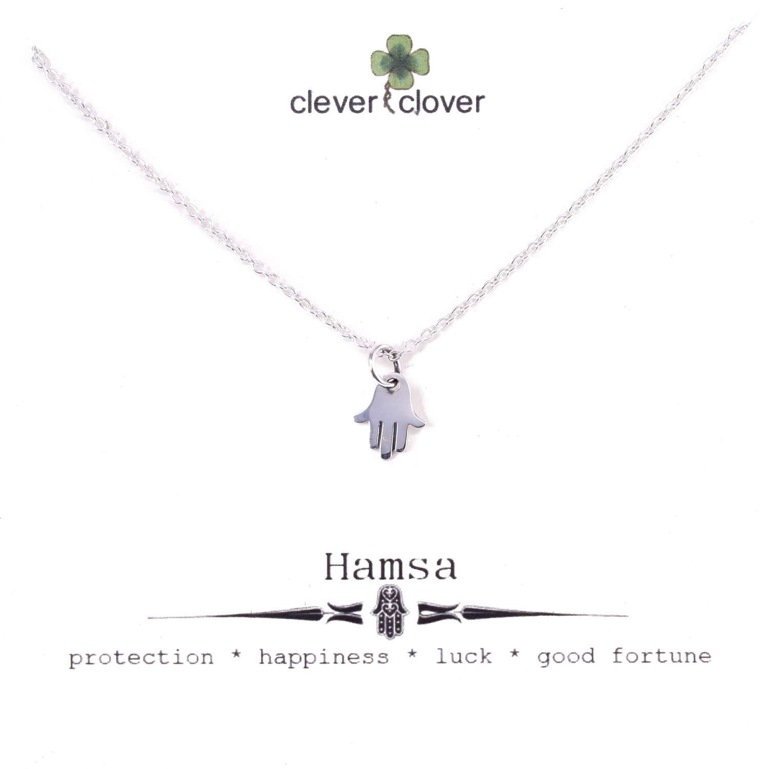 SSN951 Sterling Silver Tiny Hamsa Necklace