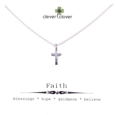 SSN1324 Sterling Silver Tiny Cross Necklace