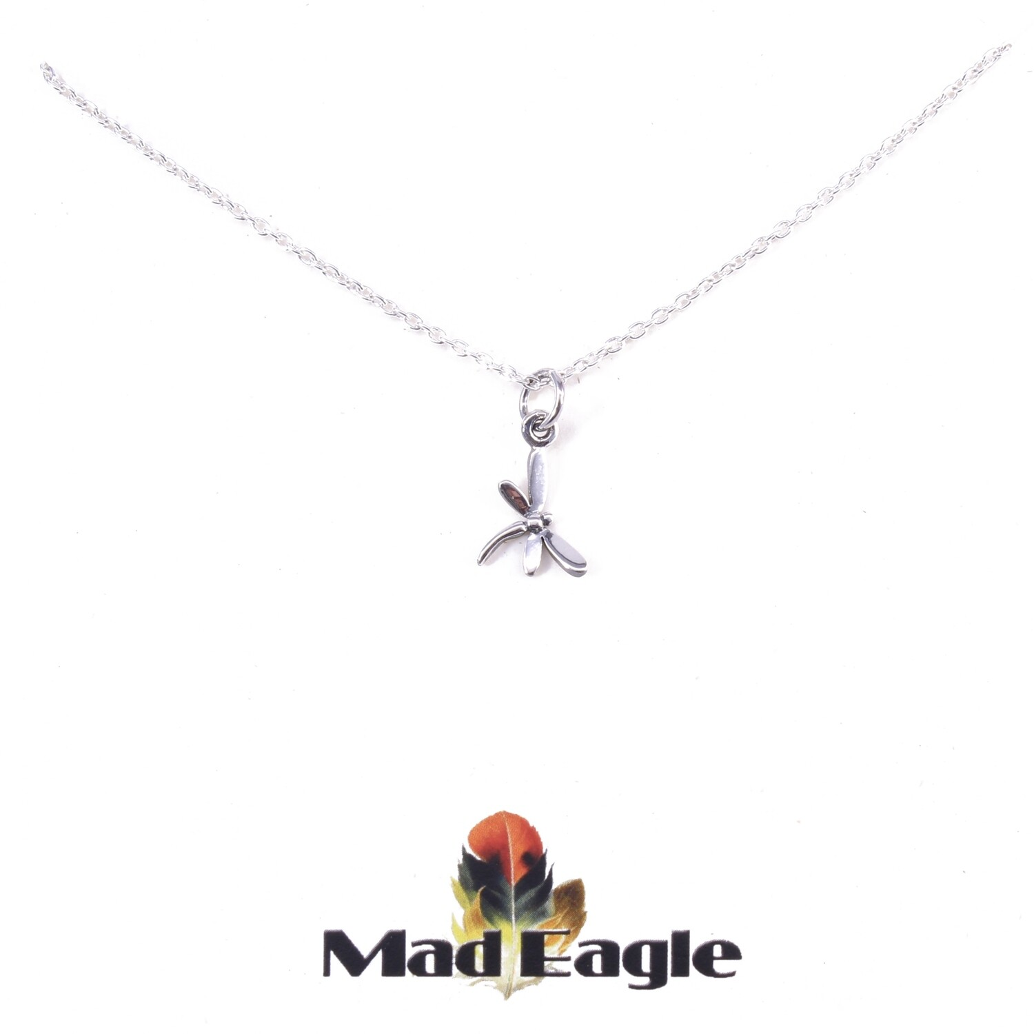 SSN1562 Sterling Silver Mini Dragonfly Necklace