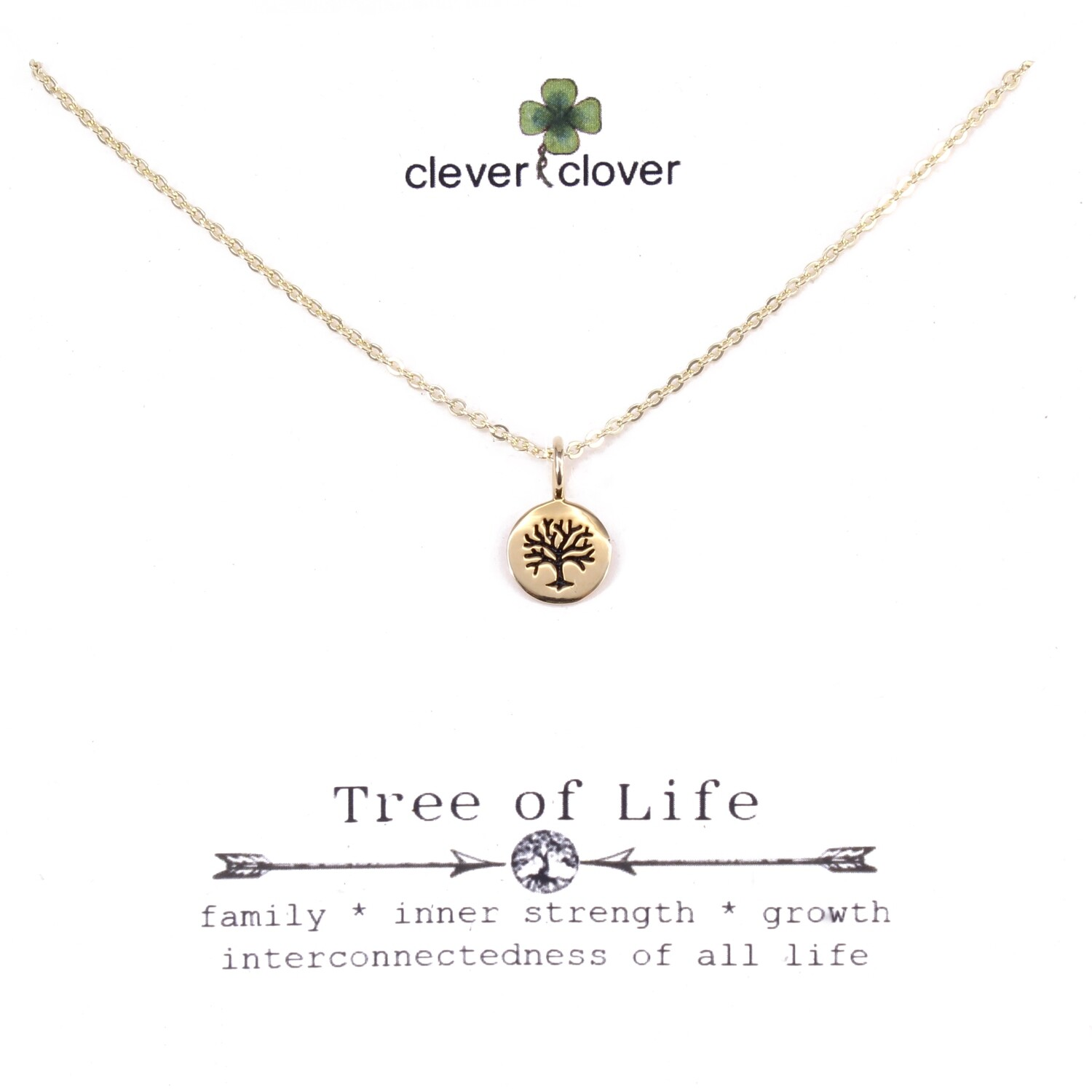 CCN1148 Bronze Mini Round Tree of Life Necklace