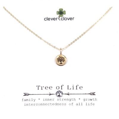 CCN1148 Bronze Mini Round Tree of Life Necklace