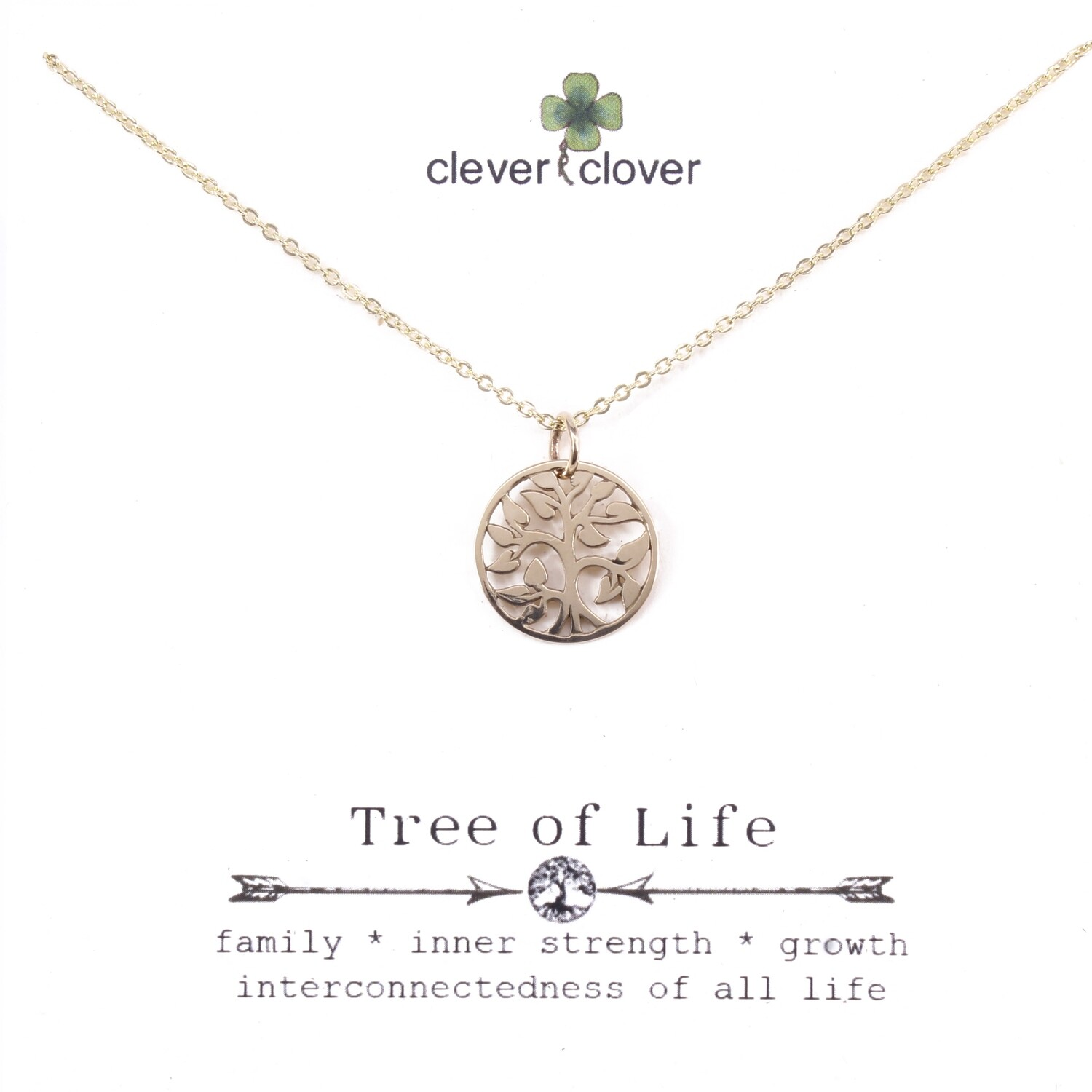 CCN972 Bronze Small Open Tree of Life Necklace