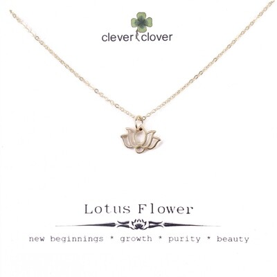 CCN1338 Bronze Tiny Wide Lotus Necklace