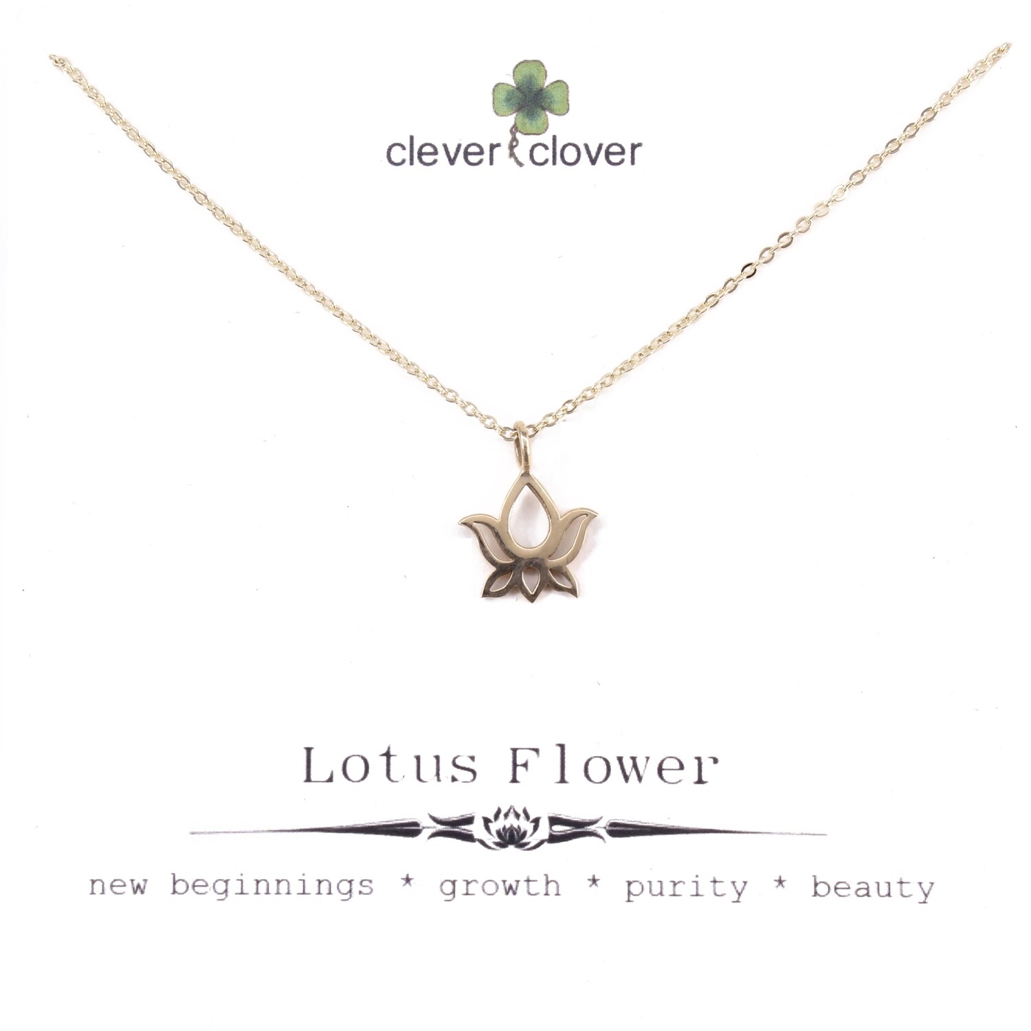 CCN616 Bronze Lotus Blossom Necklace