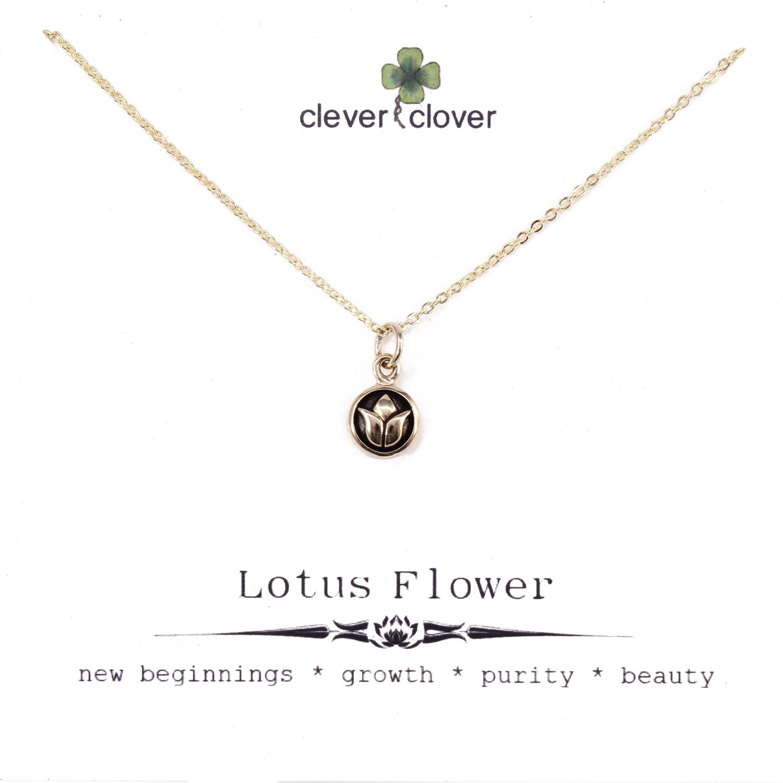 CCN550 Bronze Tiny Lotus Circle Necklace