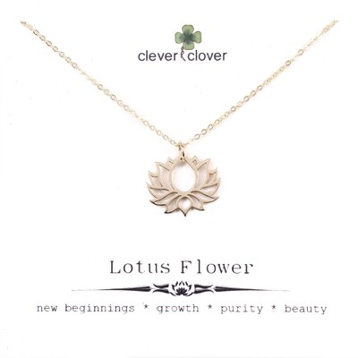 CCN1475 Bronze Blooming Lotus Necklace