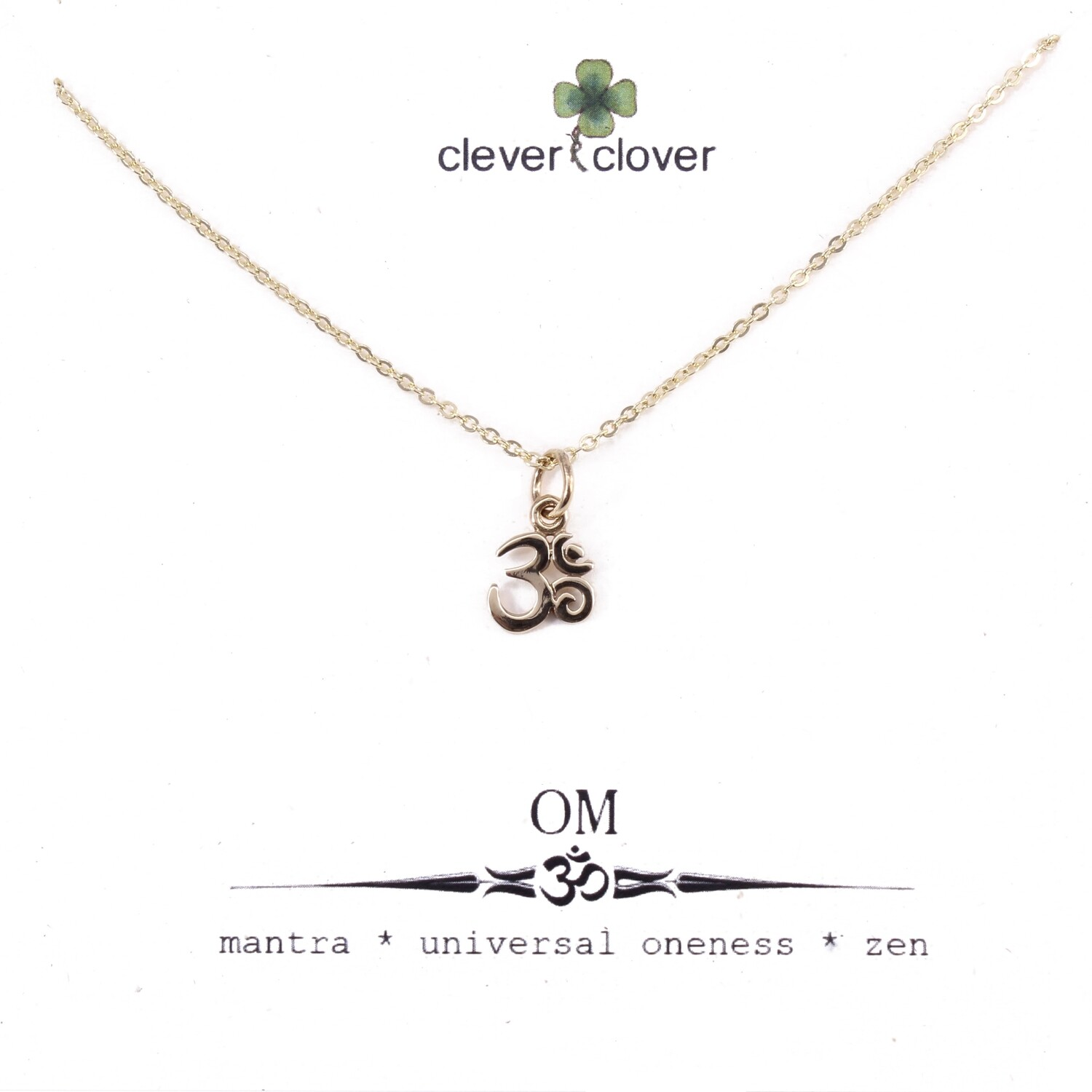 CCN1325 Bronze Tiny Om Symbol Necklace