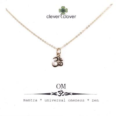 CCN1325 Bronze Tiny Om Symbol Necklace