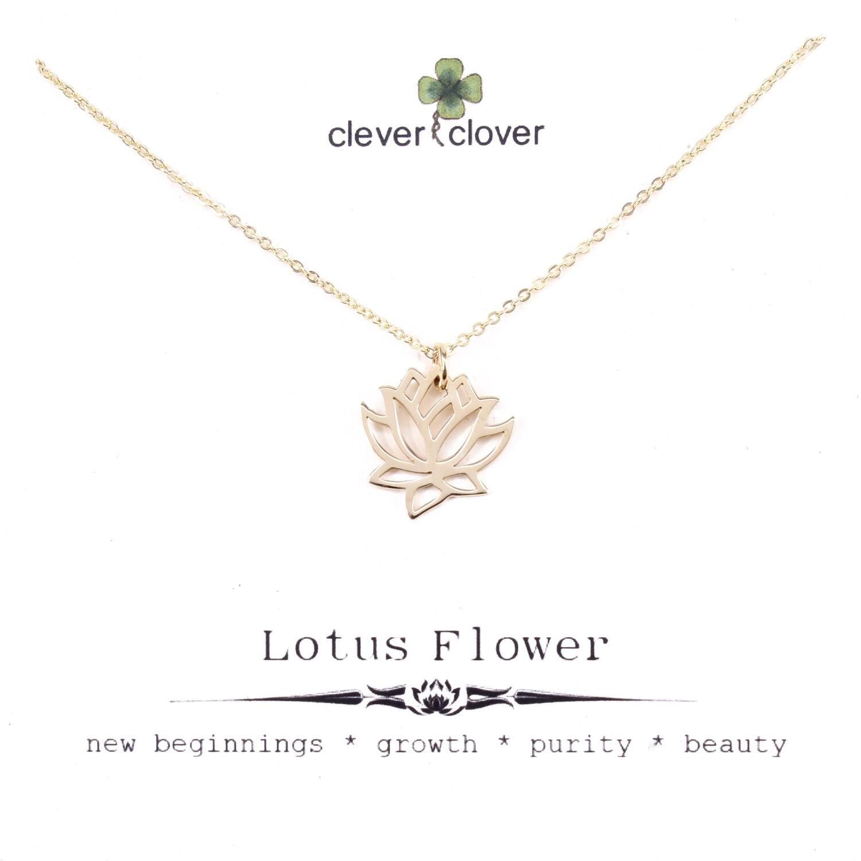 CCN558 Bronze Medium Open Lotus Necklace