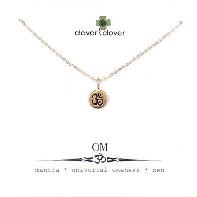 CCN646 Bronze Tiny Om Circle Necklace