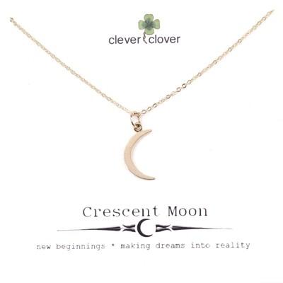CCN1196 Bronze Medium Crescent Moon Necklace