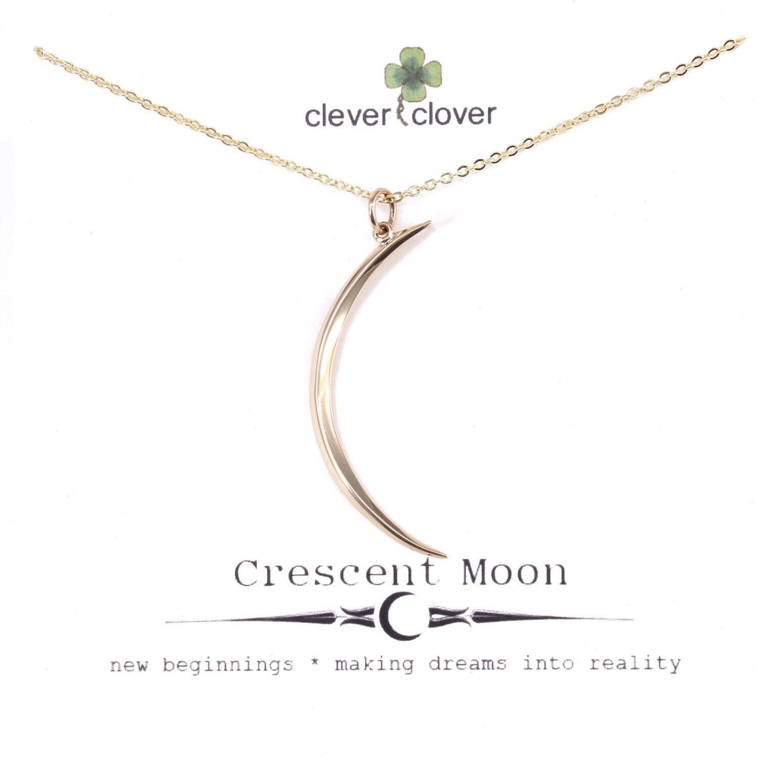 CCN7003 Bronze Large Skinny Moon Necklace