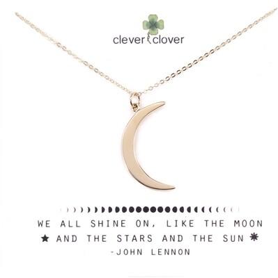 CCN1130 Bronze Large Crescent Moon Necklace