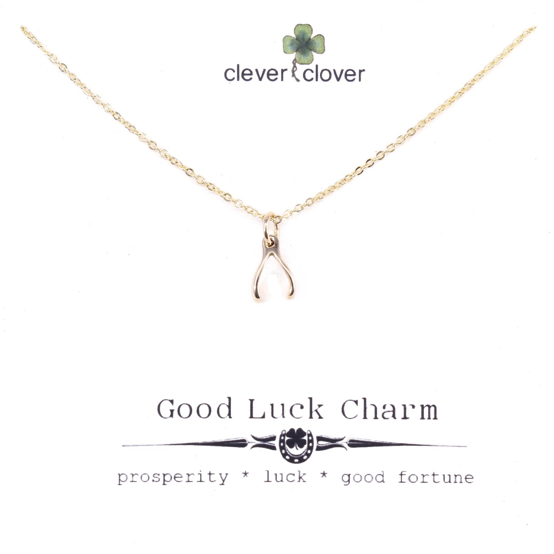 CCN784 Bronze Mini Wishbone Necklace