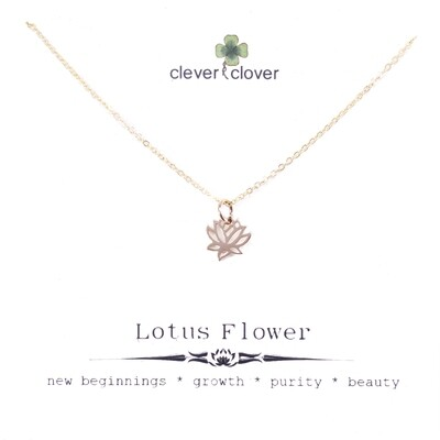 CCN868 Bronze Tiny Open Lotus Necklace