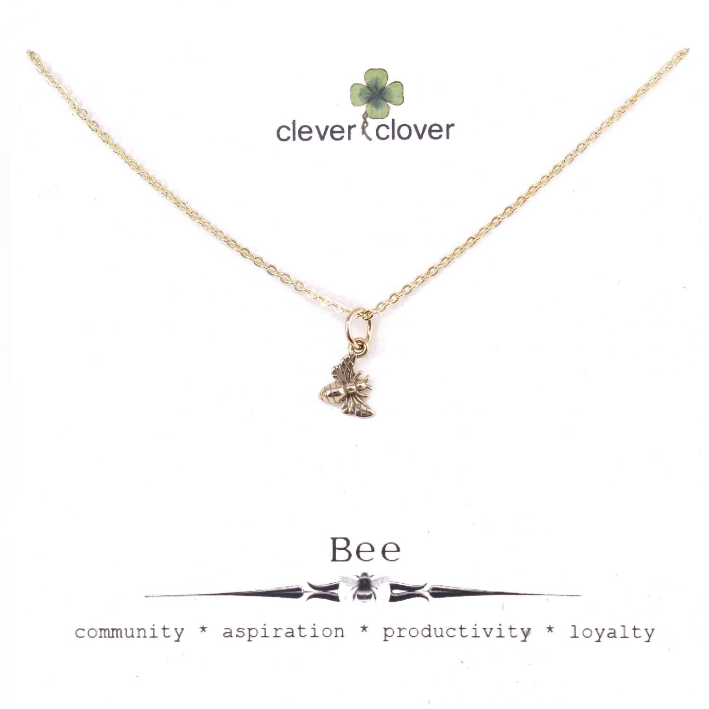CCN6007 Bronze Tiny Honey Bee Necklace