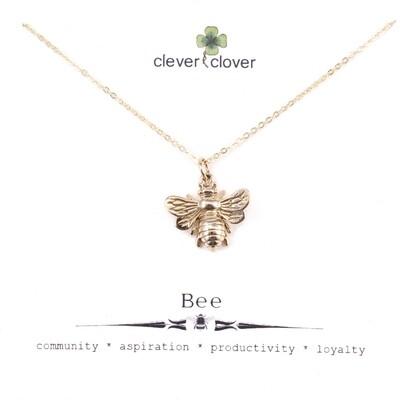 CCN1162 Bronze Large Honey Bee Necklace