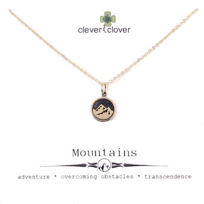 CCN1707 Bronze Mountain / Earth Element Necklace