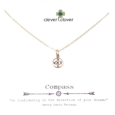 CCN1629 Bronze Tiny Compass Necklace